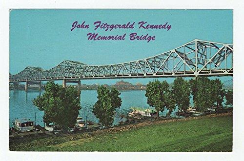 (John Fitzgerald Kennedy Memorial Bridge, Louisville, Kentucky Vintage Original Postcard #3302 - May 28, 1974)