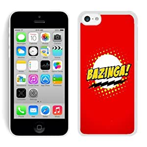 Special Custom iPhone 5C Case Bazinga Logo Sheldon Cooper White Personalized Picture iPhone 5C Phone Case