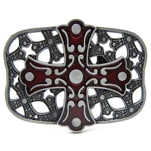 D Cross Celtic Vintage Horseman Prayer Celtic Iron Cross Skull Cowboy Lot Leather Belt Buckle