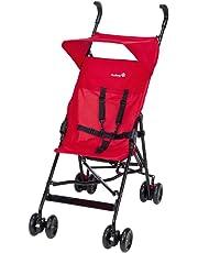 Safety 1st Peps Buggy, wendiger Kinderwagen mit Sonnenverdeck, nutzbar ab 6 Monate bis max. 15 kg, kompakt zusammenfaltbar, mit Feststellbremse und 5-Punkt-Gurt, Leichtgewicht mit 4,5 kg, rot