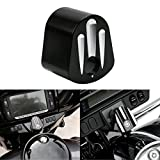 KaTur Black Deep Cut Ignition Switch Cover for Harley Electra Street Glide 2006-2013