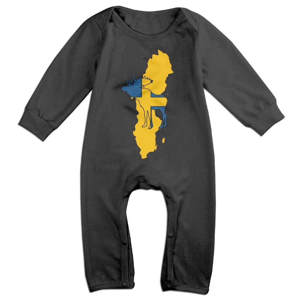 Toddler Baby Boy Girl Bodysuits Swedish Moose 1 Kid Pajamas