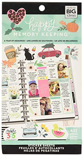 The Happy Planner Sticker Value Pack - Memory Keeping Theme - Multi-Color - Great for Projects, Scrapbooks & Albums - 30 Sheets, 432 Stickers Total