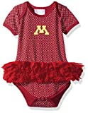Two Feet Ahead NCAA Minnesota Golden Gophers Children Girls Pin Dot Tutu Creeper,12 Mo,Crimson