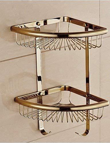 AI LI WAI Bathroom 0.5 Bathroom Gold Finish Wall Double Layer Triangle Soap Basket, Gold (Color: Golden) Bathroom Accessories JYT (Color : Golden) by AI LI WAI (Image #3)