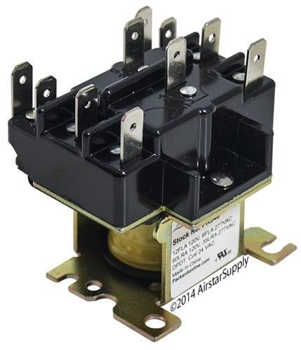 0 Replacement Heavy Duty Switching Fan Relay DPDT 24 VAC Coil ()