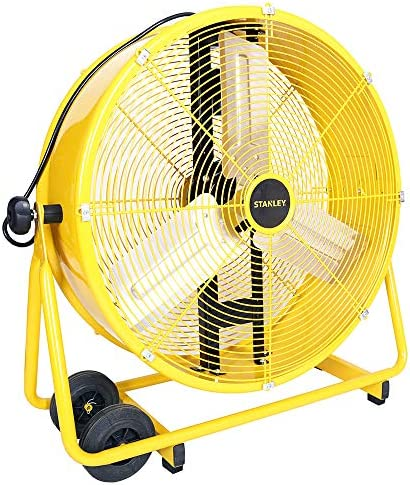STANLEY ST-24DCT Direct Drive Cradle Drum Fan-Tiltable 24 Yellow, Black