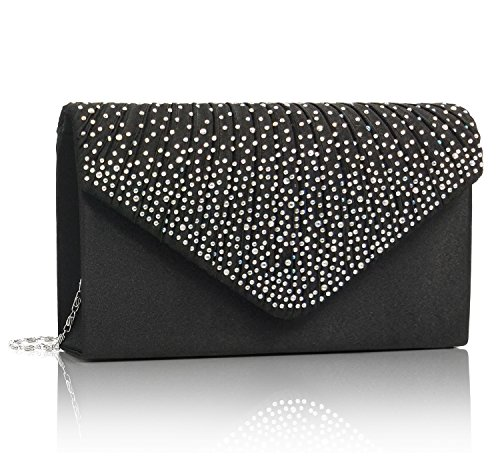 Bags Black Evening Clutch Bridal Wedding Diamonds Essvita Shoulder Black Bag Frosty Party Bag On Women For xH6RnP