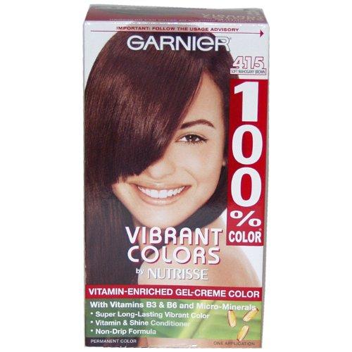 100% Color Vitamin Enriched Gel-creme Color No. 415 Soft Mahogany Brown By Garnier