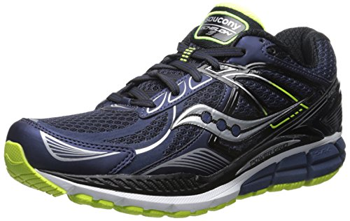 5 Mens Running Shoes (Saucony Men's Echelon 5 Running Shoe, Navy/Black/Citron,12 M US)
