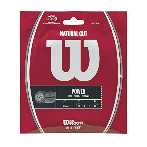Wilson Sporting Goods 17 Gauge Natural Gut Tennis String - Natural Gut Tennis String
