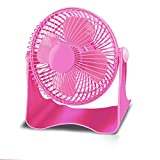 KTYX USB Fan 6 Inch Mini Desktop Mute Office Desktop Fan fan (Color : Pink)