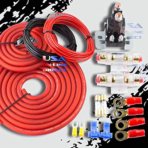 Heavy Duty Dual Auxiliary Battery Isolator with Copper Cables Complete Kit - Complete Battery Kit