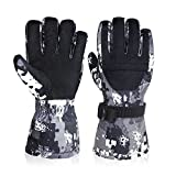 -30°F Winter Ski Gloves, Super Warm Snowboard Glove Windproof Waterproof Cold Weather Glove