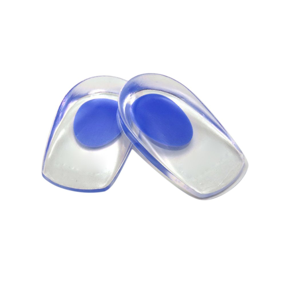 ONEVER 1 Pair Soft Silicone Gel Heel Support Pad Cup Foot Care Half-height Insoles Pads Shock Cushion Orthotic Insole Increased Plantar