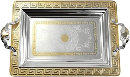 (Middle Eastern, Iranian, Persian, Serving Tea Fruit Nuts Tray 2-Piece set 18