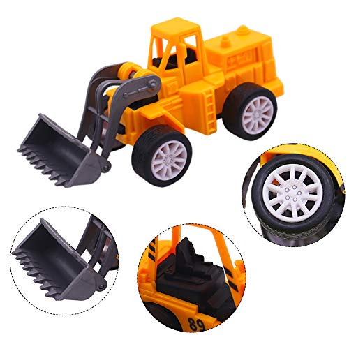 3 otters Mini Engineering Car Toys, 12PCS Construction Trucks Toys Mini Construction Toys Model Mini Construction Vehicles Easter Egg Filled Boy Girl Gift