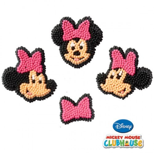 Wilton BB7106363 Minnie Edible Icing Decorations ()