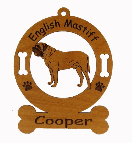 3156 English Mastiff Standing Ornament Personalized with Your Dog's Name