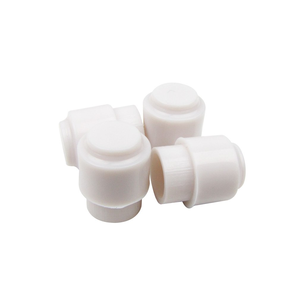 IKN White Guitar Pickup Selector Switch Caps Round Top Hat for Tele Style Guitar Parts, Pack of 4 M00603-2x4