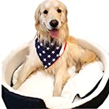 Premium Dog Pet Bandanas, Birthday, American Flag, Plad Scarfs for Dogs in Bulk Set, Wholesale and Bulk - Great for Small and Large Pets (Flag, 50 PK)