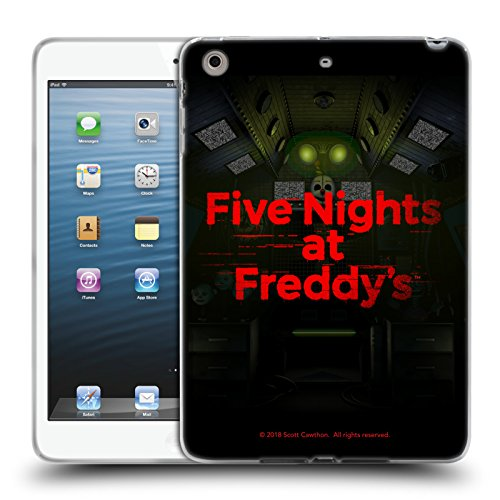 Official Five Nights at Freddy's Game 5 Logos Soft Gel Case for iPad Mini 1 / Mini 2 / Mini 3 by Head Case Designs