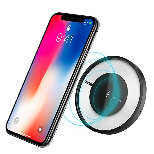 Cargador Inalámbrico, Nillkin Qi Certificado Ultra-Slim Wireless Charger Pad de Carga para iPhone X 8 8 Plus, Note 8...