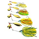 Aorace Spinnerbait Metal Sequins Lures Silicone Skirt Jig Fishing Lure Wobbler Spinner Beard Tackle
