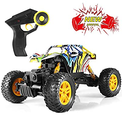 FITMAKER RC Cars, All Terrain Remote Control High-Speed Offroad 2.4Ghz 2WD Remote Control Monster Truck, Best Gift for Kids and Adults