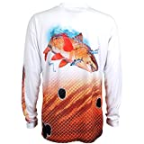 Guy Harvey Mens Redfish Performance Shirt 2XL White
