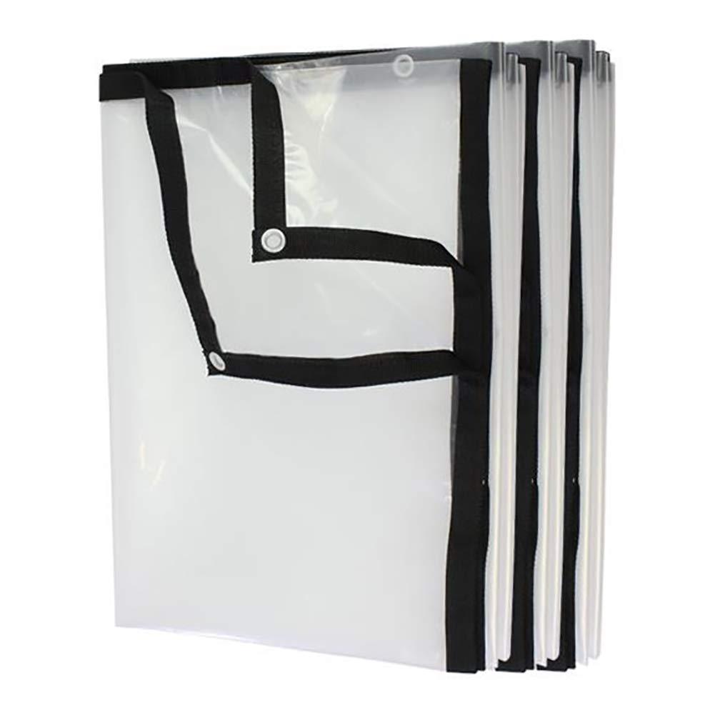 5M×6M  Qifengshop Film Plastique Transparent portatif, bÂche imperméable Transparente légère, Tissu extérieur de Prougeection Contre la Pluie du Jardin