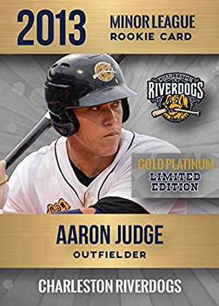 2013 Aaron Judge Charleston Riverdogs Gold Platinum Minor League Rc Only 2000 Made Yankees