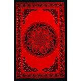 Rayon Sarong Celtic Knot Red