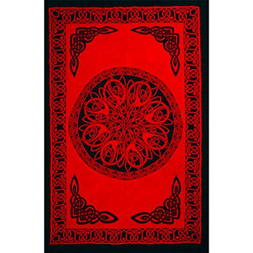 Rayon Sarong Celtic Knot Red by Kheops International