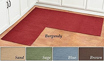 L Shaped Berber Corner Rug Runner Brown By Collections Etc Amazon