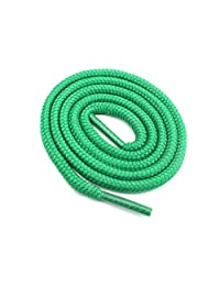 "Round Shoelaces 3/16"" Thick Solid Colors for All Shoe Types Several Lengths (Green-45)"