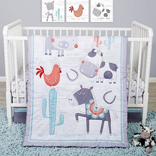 Sammy & Lou Sammy And Lou Farmstead Friends 4 Piece Crib Bedding Set