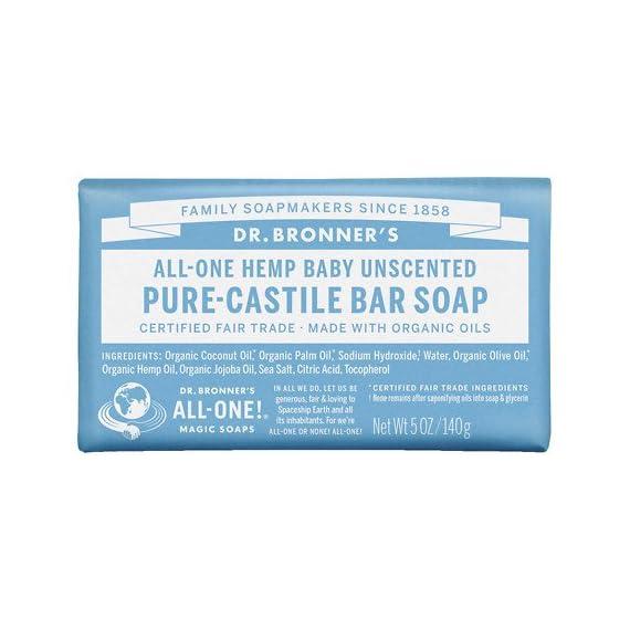 Dr. Bronner's All-One Hemp Pure-Castile Soap 5 oz (140 g) (pack of 4) 1