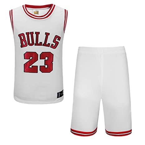 BUY-TO Camiseta Bulls No. 23 Pantalones Cortos de la NBA Traje de Uniforme