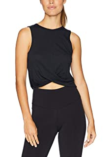 ba10d3c41c1875 Bestisun Women Workout Crop Wrap Tank Top Cute Crossover Yoga Sports Shirts  Fitness Athletic Activewear