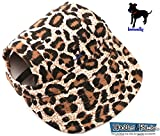 LoveWally Dog Outdoor PET Hat Leopard ♦ Adjustable Authentic (Large)