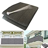 Shsyue® Balcony Privacy Filter – Weather-resistant Wind Screen Anthracite UV Protection Balcony Covering with Cable Ties 500x90 cm New