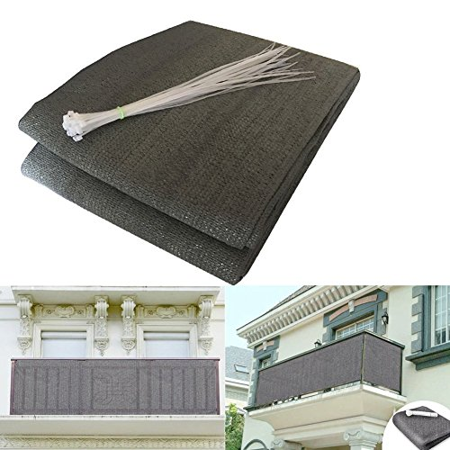 shsyue Balcony Cover Privacy Filter Weather-Resistant Wind Screen