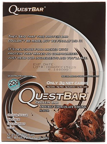 Quest Nutrition Protein Bar, Double Chocolate Chunk, 12 Count