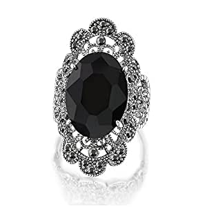 Fine Jewelry Personalized Womens Crystal Sterling Silver Cocktail Ring 6yPj0ZJ