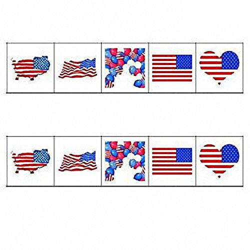 American Flag Tattoos,Temporary Tattoos Face Body Decor,USA Flag Stickers, Party Decorations For 4th Of July,Sports Clubs,Festival Events Celebration