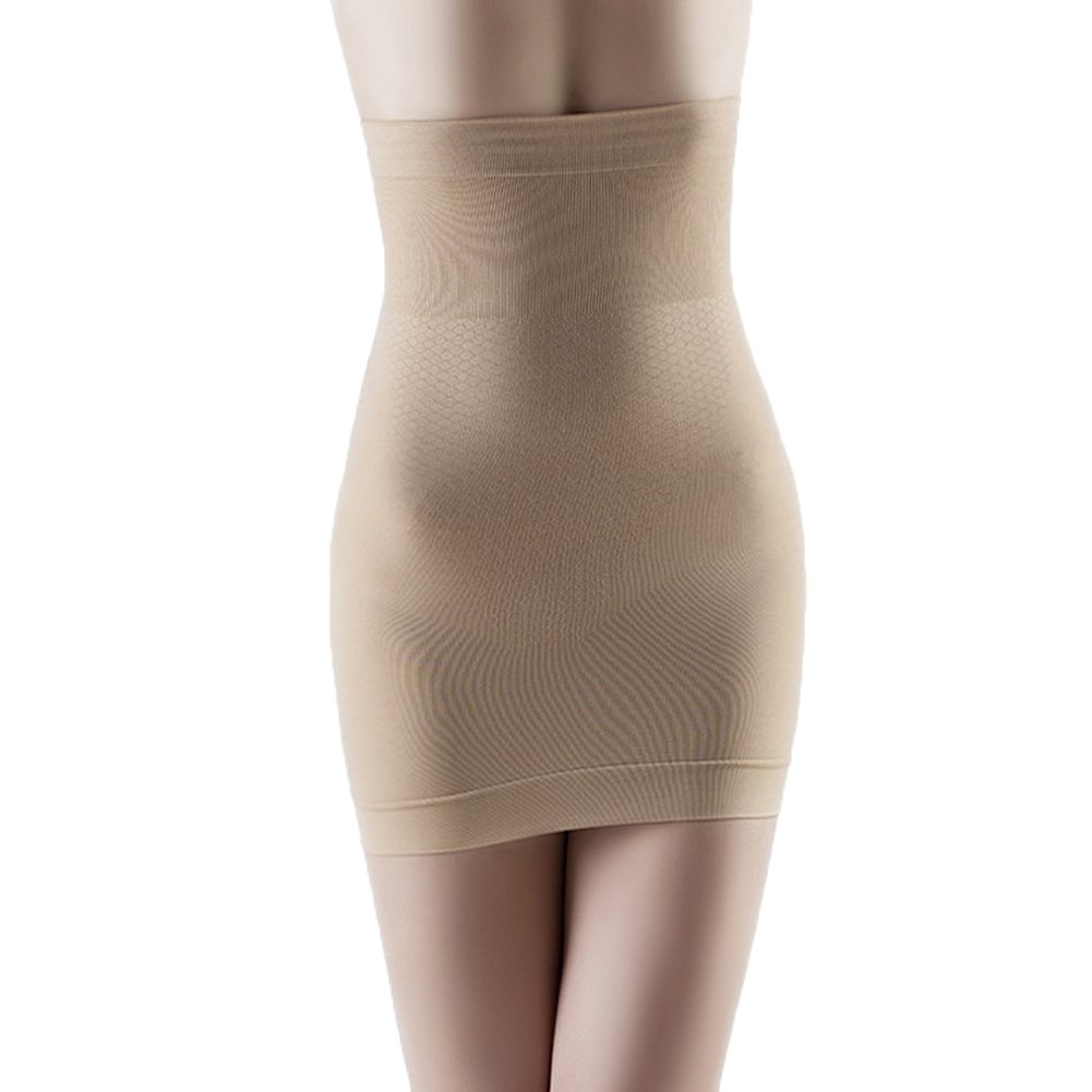 Body Shaper Firm Control High Waist Shaper Skirt Half Slip Shapewear for Women Nude M Haifly