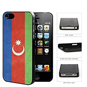 Azerbaijan Flag Blue Red and Green with Crescent Moon Grunge Hard Snap on Phone Case Cover iPhone 4 4s