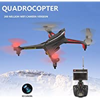 Hanbaili Upgraded X250 Drone with 2MP Camera Real-time Transmission,One Key Return Out of Control Protection Colorful LED Lights for Night Flight