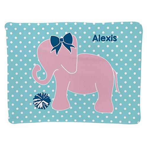 Personalized Cheerleading Baby & Infant Blanket | Elephant